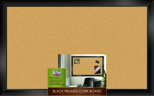 La Junta Dudes Negro con marco corcho Junta 88,9x 55,9cm