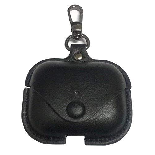 LICHIFIT Draagbare PU Lederen Beschermhoes Cover Bluetooth Oortelefoon Opbergtas voor Airpods Pro Hoofdtelefoon Opladen Doos Huid, Zwart