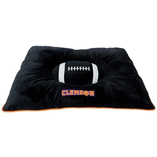 Pets First Collegiate Pet Accessories, Dog Bed, Clemson Tigers, 30 x 20 x 4 inches