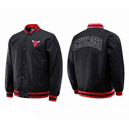 Jordan Jacke, Chicago Bulls 23# Langarm Basketball Trikots Mode Sweatshirt Jacke Mantel Oben, Herren Sport Training Kleidung (S-XXL) Black-XL
