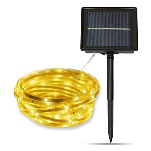 SUAVER Lumière de Jardin Solaire, LED Strip Light Etanche Flexible Ruban LED 16.4ft SMD2835 100LED Cordes Éclairage décorative Light Christmas