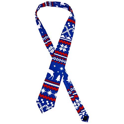 KESYOO Weihnachtskrawatten Herren Dekorative Weihnachtskrawatte Weihnachten Thema Krawatten für Männer Jungen Weihnachtsfeier Kostümzubehör (Farbe 4)