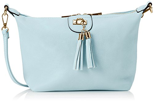 Swanky Swans Damen Caprice Shoulder Bag Umhängetasche, Blau (Light Blue), 11x26x28 cm