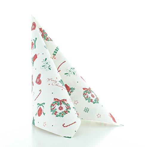Sovie Home Serviette Dreams Rot-Grün | Linclass® Airlaid | Christmas Weihnachten Xmas saugstark | 40x40cm, 12 Stück