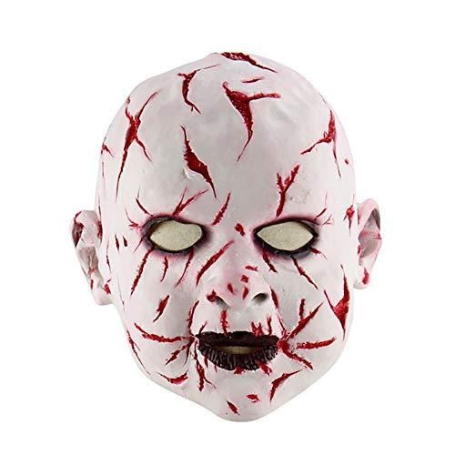 WYP Halloween-Maske, Masque Maskerade-Schablonen Latex-Maske Mit Hut Für Maskerade-Halloween-Kostüm-Bar Realistische Cosplay