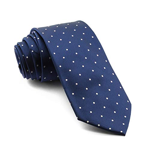 Cencibel Smart Casual Corbata Lunares o Topos (Fondo Azul Marino Lunares Blancos)