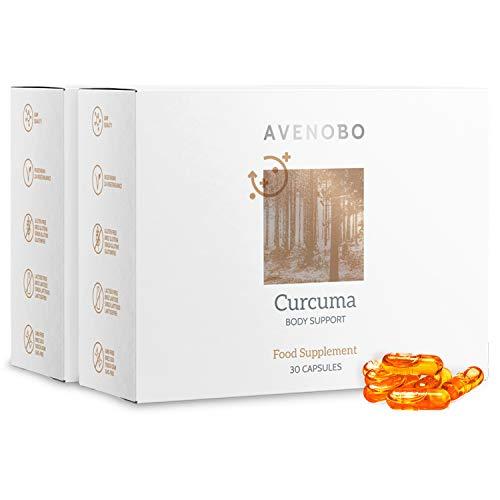 Avenobo Kurkuma mit Vitamin D3 – Mizellen Curcuma Kapseln ohne Piperin - 185x höheren Bioverfügbarkeit - 2x30 Kapseln hochdosiert