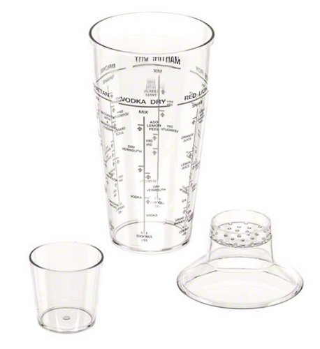 American Metalcraft 24 oz 3-Piece Acrylic Cocktail Shaker