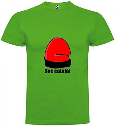 Camiseta Catalunya Soc Catala Manga Corta Hombre : Amazon.es ...