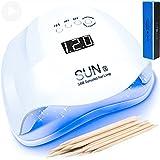 SUN X 2021 Lampada Unghie Professionale LED UV con 5 Modalità Timer e Sensore di Movimento Fornetto da 48W / 54W per Manicure e Pedicure Forno Asciuga Smalto per Semipermanente e Ricostruzione Gel