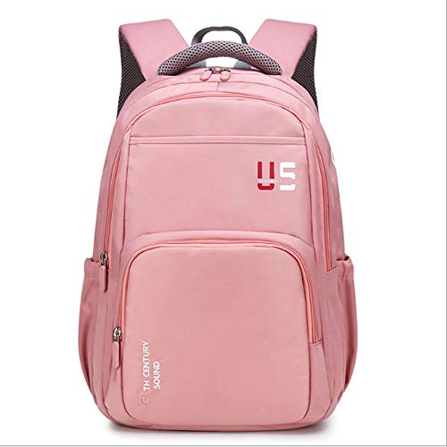 ZHAOYONGBING Children Backpack,Student Backpack, Cute, Large Capacity, Waterproof Material, Shockproof And Pressure-Relieving, Men And Women Shoulder Bag. Student Backpack. flesh pink