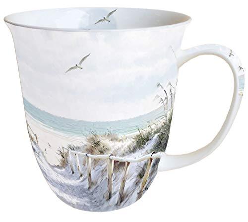 Ambiente Becher Mug Tasse Tee/Kaffee Becher ca. 0,4L Strand Beach Cabin