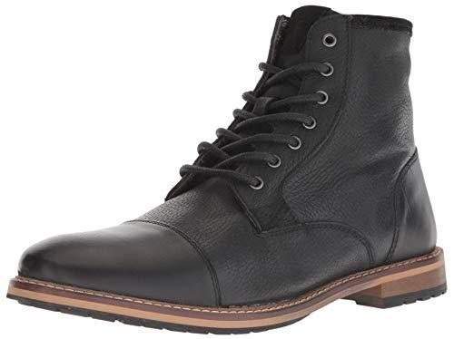 Crevo Men's Demarcon-Leather Fashion Boot, Black, 11.0 Medium US