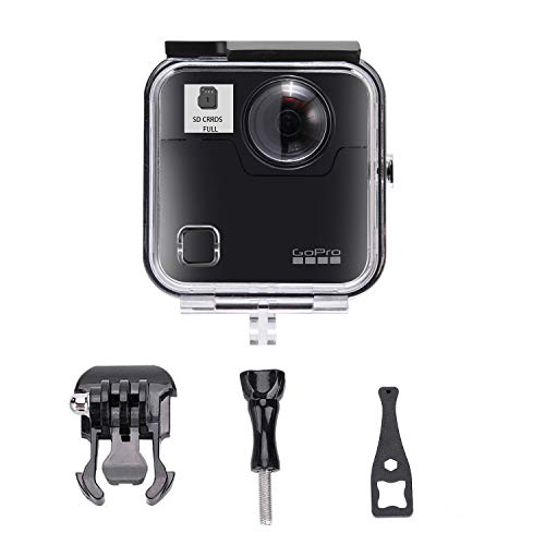 Housing Case for Gopro Fusion Action Cameras, Splash Protection Shell with Bracket Accessories