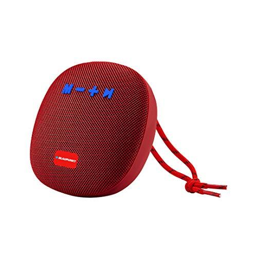 Altavoz Bluetooth Potente – Altavoz Bluetooth portátil – Altavoz portátil – Altavoz portátil – Altavoz Impermeable – Inalámbrico – Altavoz Bluetooth Negro Metal Rojo 5 W