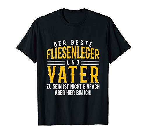 Fliesenleger Geschenk-Idee Fliesen Vater Papa Beruf Shirt T-Shirt