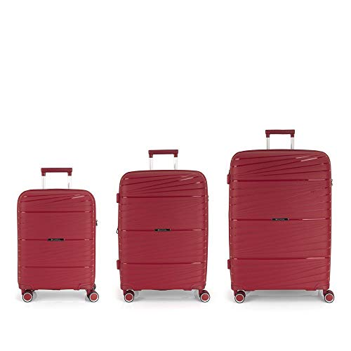 Gabol Set of 3 Suitcases C-M-L, Adult Unisex, Red (Red), One Size