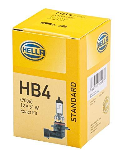 HELLA 8GH 005 636-121 Glühlampe - HB4 - Standard - 12V/51W - P22d - Schachtel - Menge: 1