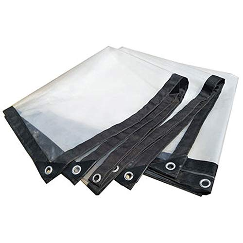 Poly Tarps Clear Transparent, Plastic Tarpaulin Heavy Duty Waterproof, Tarp with Grommets Reinforced Edges Multi-Purpose Tarps for Warehouse Dustproof, Vegetable Shed, Tent, Curtain,2x3m/6.5x10ft