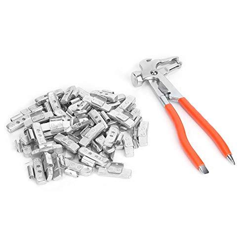 EBTOOLS Radgewichtsbalance, 50 Stück 30 g Aluminiumlegierung im P-Stil Clip am Hakenausgleich Reifen Reifengewichtsbalance Autowerkstatt(With Balance Pliers)