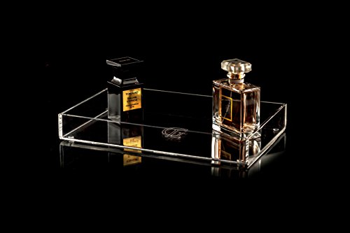 glamourliving® Classique Parfum Plateau en Acrylique Lotion après-rasage Meuble bijoux plateau multiusage Lucite Étui support de rangement de cuisine chambre salon