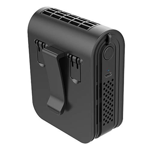 KEYNICE ベルトファン 携帯扇風機 腰ベルト扇風機 USB 充電式 ジェットファン ポータブルファン 長時間動作 ミニ 扇風機 腰ベルトファン 腰掛け扇風機 静音 アウトドア/屋外作業 熱中症対策(ブラック)