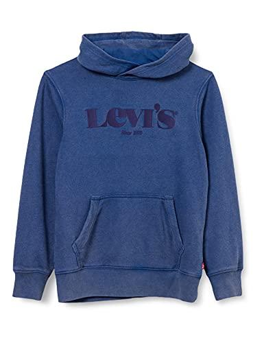 Levi's Kids LVB Washed Down Logo PO Hoodie C788 Hooded Sweatshirt, Estate Blue, 12 Ans Garçon