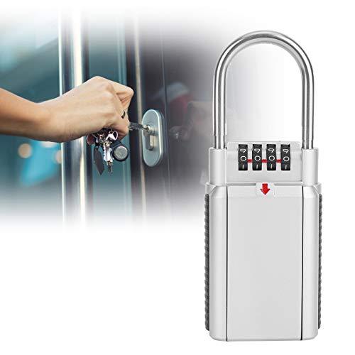 Caja fuerte para llaves de pared, caja fuerte de almacenamiento de llaves de gran capacidad para familias fábricas (plata)