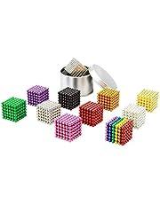 ADMLZQQ 3mm magnetische ballen 1000 stuks Magneet Bureau Toy Games Veelkleurige Parels Stress Relief Speelgoed voor volwassenen (10 kleuren hardcover ijzeren doos)
