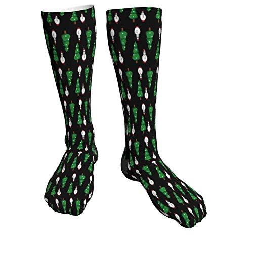 Christmas Tree And Snow Man Warm Thick Knee High Knit Socks 50cm