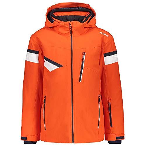 CMP Skijacke Snowboardjacke Boy Jacket Snaps Hood orange wasserdicht elastisch (140)