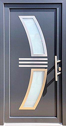 Nr.2 Eingangstür, Tür 100 x 210 cm, Innen Rechts, Haustür,Wohnungstür,Wohnungstür,Kunststoff Tür,Hauseingangstür,Tür