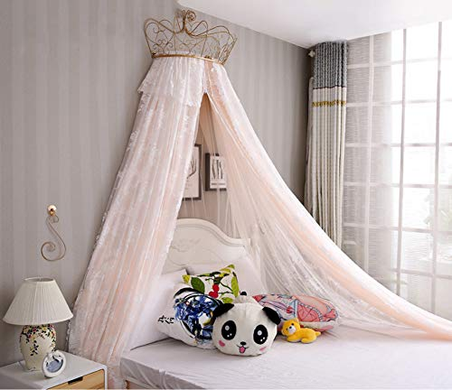 KID LOVE Dome Moskitonetz Krone,mädchen Prinzessin Bett Baldachin Kinder Spielen Haus Prinzessin Zelt-a King