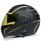 Casco de Motocicleta Modular, Integrado Anti Niebla Visera Doble,Cascos Integrales Moto Para Hombre y Mujer Certificado Por ECE Para Hombres Adultos, Mujeres C,XL=61~62cm