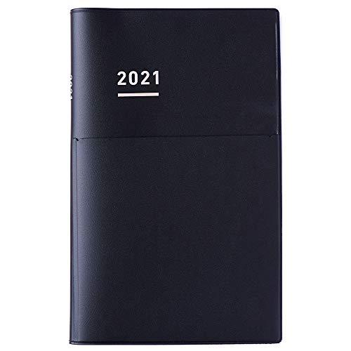 コクヨジブン手帳Biz手帳2021年A5スリムマンスリー&ウィークリーマットブラックニ-JB1D-212020年12月始まり