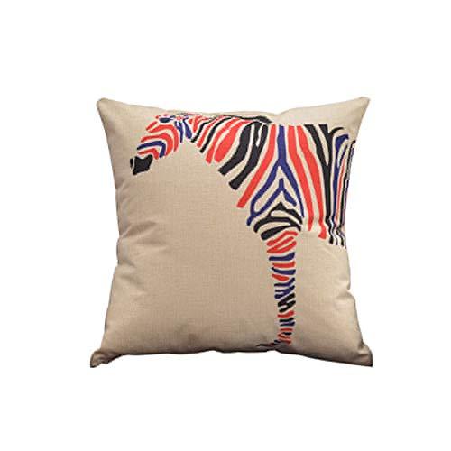 TELLW géométrique motif dessin animé oreiller housse sofa coussin drap mode oreiller