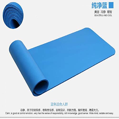 SNIDSA Estera de Yoga Estera De Yoga Nbr De 30 Mm Estera De Fitness Protección Ambiental Directa Espesar 183 * 61 * 3.0 Cm