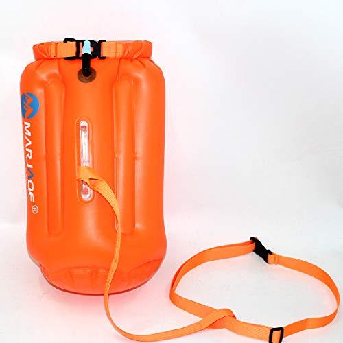 Aufblasbare Aufbewahrungstasche zum Schwimmen, leicht aufzublasen, umweltfreundlich, PVC, fluoreszierendes Orange
