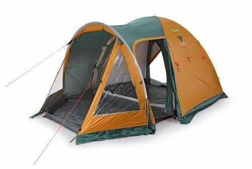 Bertoni Tende Elba 4 Tenda da Campeggio a Catino Unico, Arancio/Verde, Unica