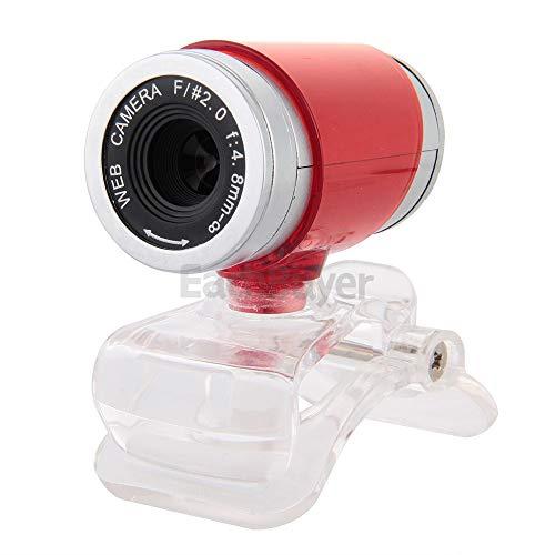 KCatsy USB Video Webcam 5MP 480P HD Videokamera 360° drehbar verstellbar Licht korrektur eingebaute Mikrofone Videokamera für Netzwerkunterricht Konferenz rot rot 12MP 1080P