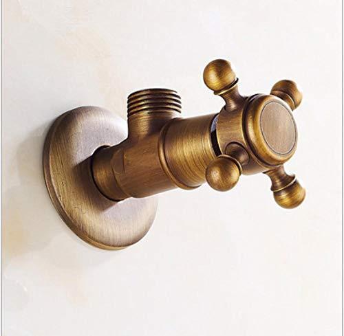 """mazhant Wasserhahn Ersatzteile 1/2\""""X 1/2\"""" Gold Messing Eckventil Füllung Für Wasserhahn Und Toilette Dreiecksventile Wasserstop"""