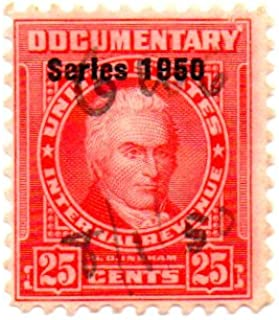 USA Documentary Stamp Single 1950 Revenue Issue 25 Cent Scott #R544
