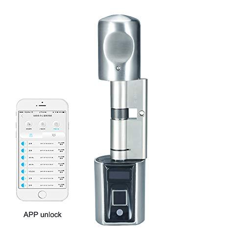 WE.LOCK Biometrischer Fingerabdruck und Bluetooth Smart Elektronisches Türschloss für Telefon Offen in Keyless