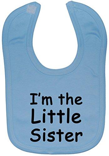 Acce Products i'm The Little Sister Bavoir pour bébé Fixation Velcro 0 à Environ 3 ans - Bleu - Taille unique