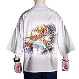 GYINGY Sword Art Online Kirito/Yuuki Asuna Personalidad 3D Impresión Verano Juventud Cárdigan de Manga Siete Cuartos Ropa Delgada de protección Solar-XXXL