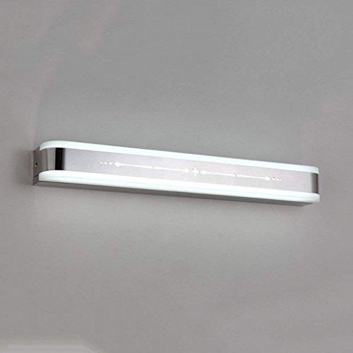 JBP Max Spiegellamp, ledverlichting, moderne badkamerspiegel, koplamp, spiegelkast, licht, roestvrij staal, acryl