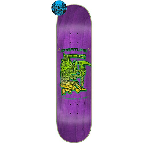 CREATURES Skateboard Deck Busqueda De Hesh Coldpress, Größe:8.25, Farben:Purple