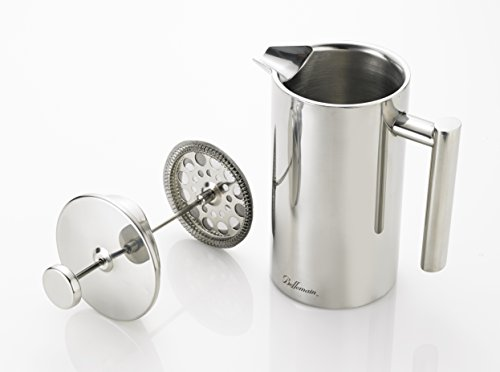 Bellemain French Press - Extra Filters Included - Coffee and Tea Maker - Stainless Steel - 35 fl. oz ( 1 Liter). - 2-Year Warranty