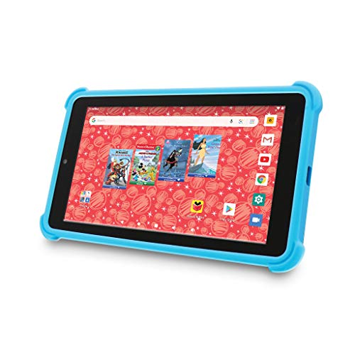 "Venturer Small Wonder 7"" Android Kids Tablet with Disney Books, Bumper Case & Google Play, 16GB Storage & 2GB RAM Dual Band 5GHz/2.4GHz WiFi (Blue)"