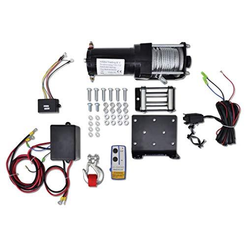 Cabrestante eléctrico, 12 V, 1360 kg, cabrestante eléctrico con mando a distancia...